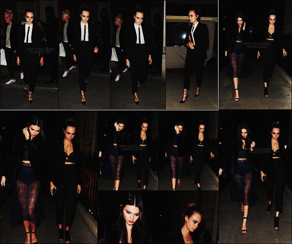 09/10/15 - Dans la soirée, Cara Delevingne a été photographiée quittant son hôtel situé dans - Londres. Plus tard, Cara et Kendall Jenner se sont rendues au bal masqué d'Eva Cavelli, toujours à Londres. Je lui accorde un joli top, et vous ?