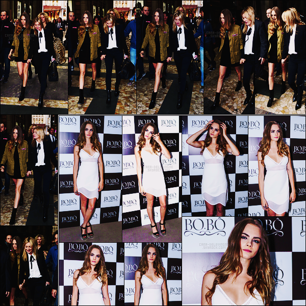 23/09/15 - Cara Delevingne a été photographiée sortant de la boutique Mango avec Kate Moss à Milan. Le 25/09, notre Cara s'est rendue à l'événement Bobo à Sao Paulo au Brésil. Je n'aime pas vraiment les chaussures choisies, dommage..