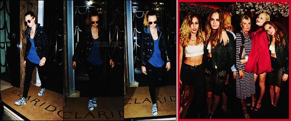 22/09/15 - Cara Delevingne a été photographiée sortant de l'hôtel Claridges où elle séjourne, Londres. Plus tard, Cara a été vue à la soirée Love Magazine x Miu Miu dans le cadre de la Fashion Week. Côté tenue, ça sera un joli top.