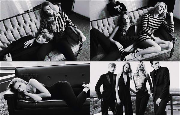 .  La jolie Cara Delevingne pour la collection de noël de la marque Mango, avec Kate Moss.  .