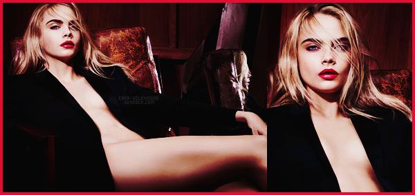 .  La sublime Cara Delevingne pour le nouveau rouge à lèvres d'Yves Saint Laurent !  .