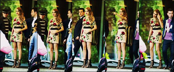 15/06/15 - Cara Delevingne a été aperçue quittant son hôtel pour se rendre à une émission dans Madrid. J'aime beaucoup la tenue que portait Cara, que ça soit la robe ou les escarpins ! Et vous, que pensez-vous de cette tenue ? Top/Flop ?