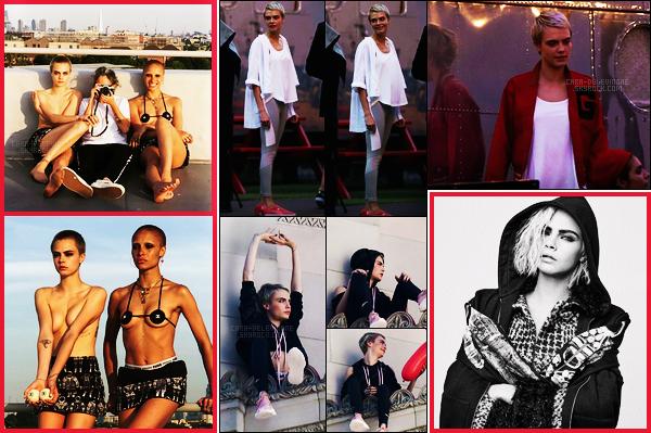 11/09/17 - Des nouvelles de Cara Delevingne, qui a été aperçue, sur le set d'un photoshoot pour Puma.  +Des photos de Cara pour Chaos Sixty Nine sont apparues et une nouvelle photo pour Chanel est sortie. Rappel article précédent ici