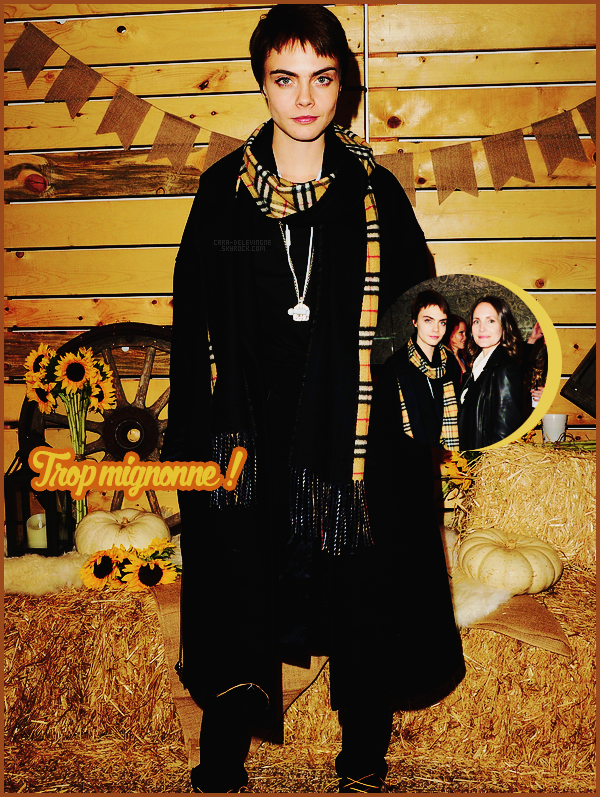 . ● Le 14/11, Cara Delevingne a la soirée Bollare Holiday Harvest x Timberland Fall Style !  .