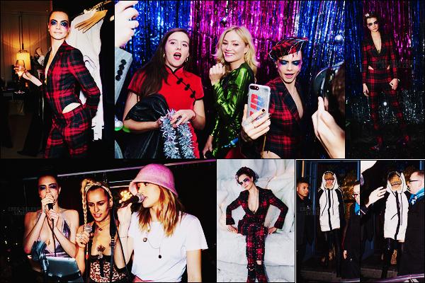 . ● Le 02/12, Cara Delevingne était à la soirée de fêtes nommée Burberry x Cara Delevingne  !  .