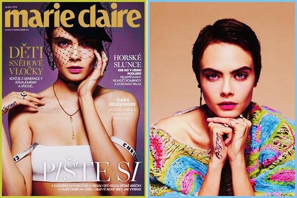 .  Cara Delevingne en couverture de Marie Claire CZ , pour l'issue de décembre 2017 !  .