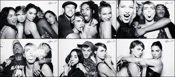 . ● Des photos de notre Cara Delevingne lors du 21ème anniversaire de Kylie Jenner sont disponibles !  .
