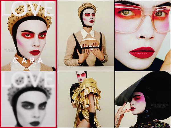 .   Cara Delevingne est en couverture du magazine  Love, pour son  issue de Janvier 2019 !  .