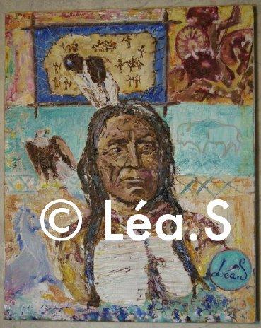 Red Cloud - huile sur toile, Léa.S