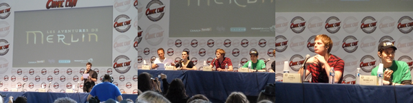 Rencontre avec Colin Morgan, Bradley James, Julian Jones & Katie McGrath de la série Merlin.