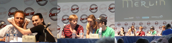 Rencontre avec Colin Morgan, Bradley James, Julian Jones & Katie McGrath de la série Merlin.