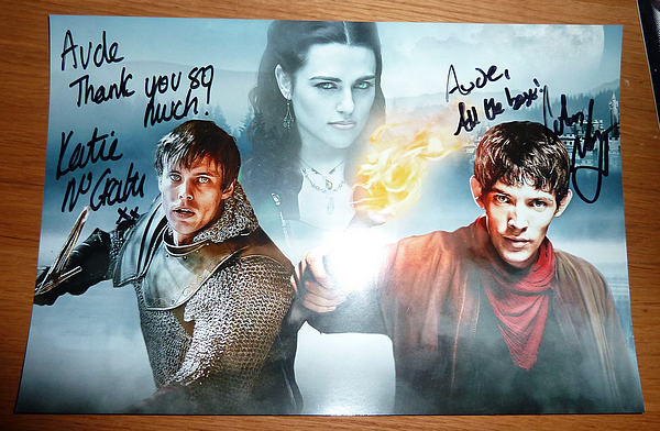 Colin Morgan, Katie McGrath & Julian Jones.