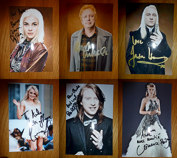 Natalia Tena, Mark Williams, Jason Isaacs, Evanna Lynch, Domhnall Gleeson, Clémence Poésy, James & Oliver Phelps.