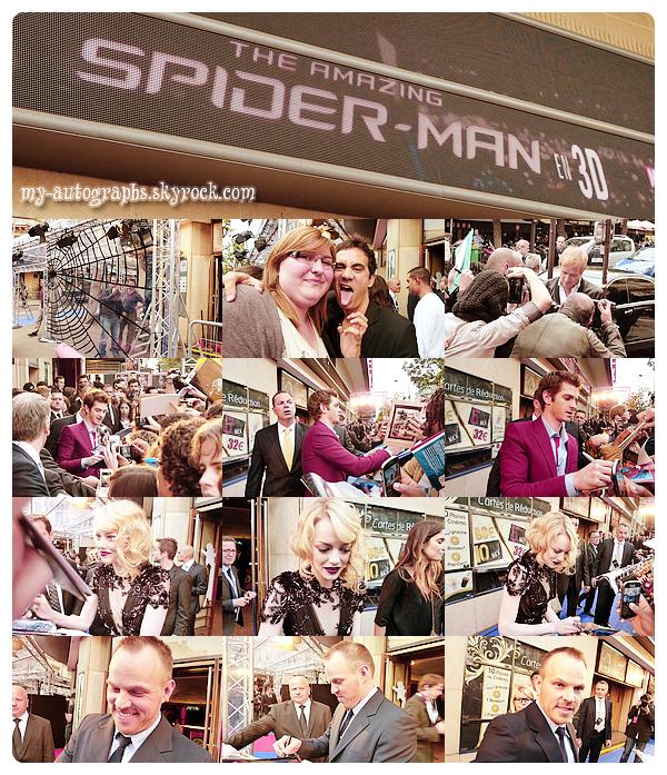Avant-Première The Amazing Spiderman, 19/06/2012.