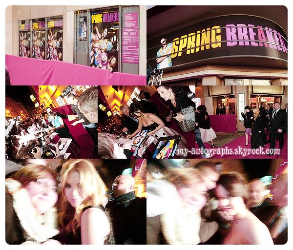 Avant-Première de Spring Breakers le 18 février 2013.