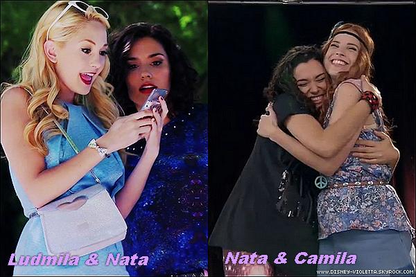 Vous etes plus pour l'amitié de Ludmila & Nata ou Nata & Camila ? A vous de voter!