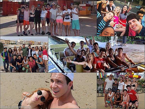 Coin Summer: Nos acteurs ont été à Seville en Espagne pour tourner une partie de Violetta mais ils ont aussi profiter du soleil.