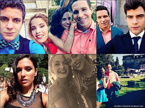 Coin Tournage :Voici des photos du dernier épisode de Violetta 3 dans un marige.