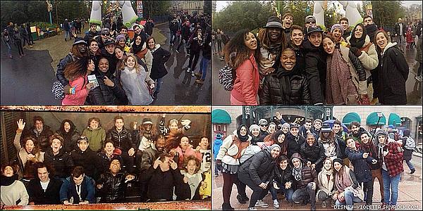 Coin Sorti : Nos acteurs ont été s'amuser à Disneyland Paris le 17 février 2015.