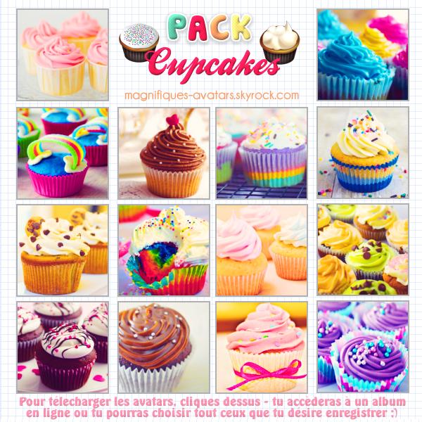 "Planche d'avatars ""Cupcakes""  ♣"