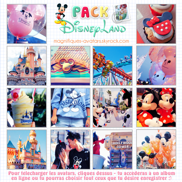 "Planche d'avatars ""Disney Land"" ♥"