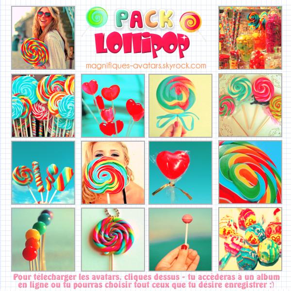 """Planche d'avatars """"Lollipop"""" ! ღ"""