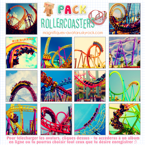 "Planche d'avatars ""Rollercoasters"" இ"