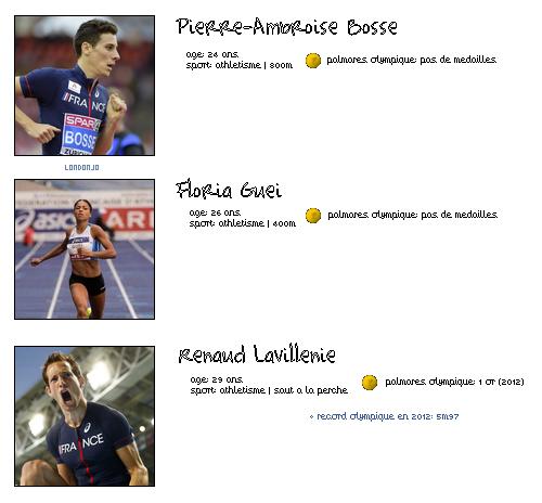 Rio 2016 - Parlons un peu des sportifs
