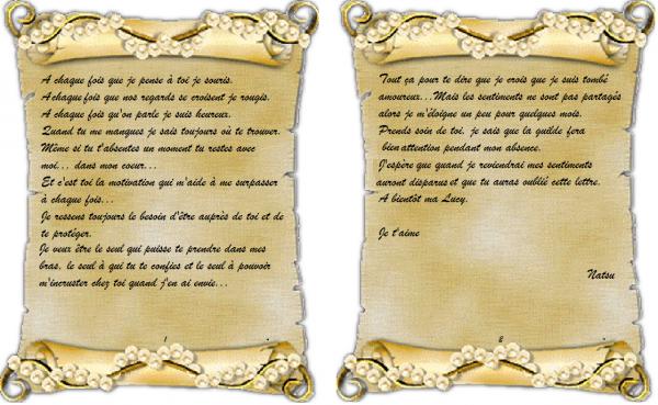 ***T.S.1 (partie2): Ta lettre et tes sentiments***
