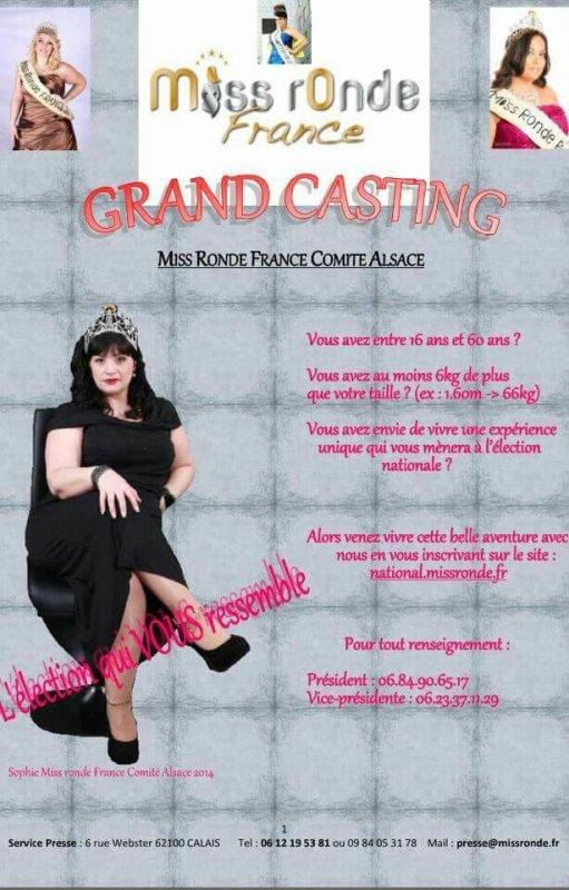 Miss Ronde France Comité Alsace