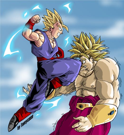Sangoku et Sangohan VS Broly