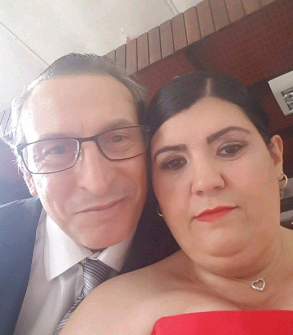 Moi et mon mari au mariage de mon frère et ma belle s½ur