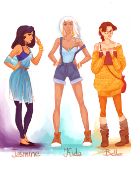 Princesses modernes.