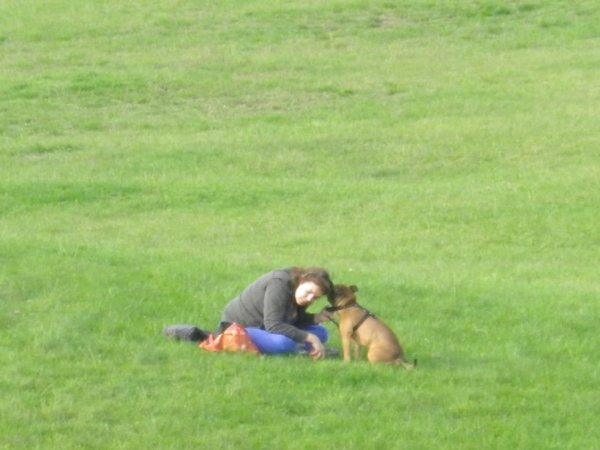 la femme qui chuchotait à l'oreille des chiens !