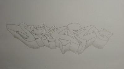 Graff crayonné