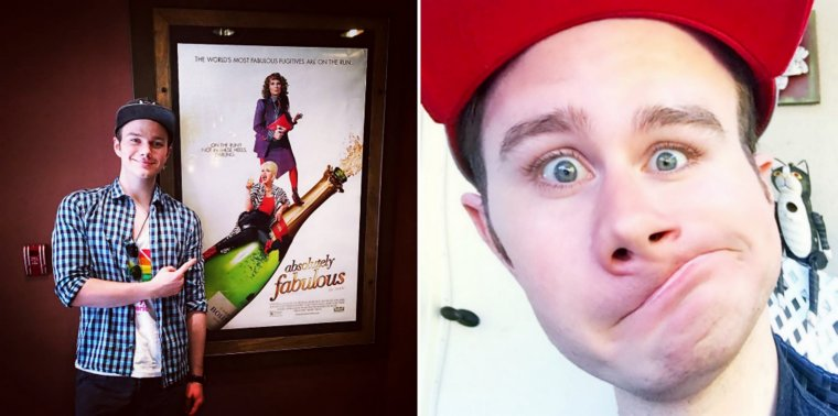 Absolutely Fabulous: The Movie avec Chris Colfer