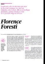 """FLORENCE FORESTI : """"Oui, je suis féministe.Fervente.Ce n'est pas un gros mot ..."""""""