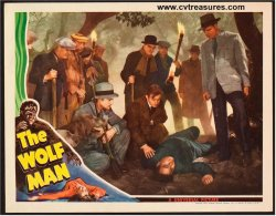 """The Wolf Man"", 1941 Original Vintage Movie Poster Lobby Card (11x14"") Starring Lon Chaney"