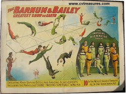 BARNUM AND BAILEY VIENNESE TROUPE Original Vintage Circus Poster, 1905