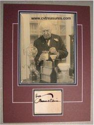 Thomas Edison autographed photo
