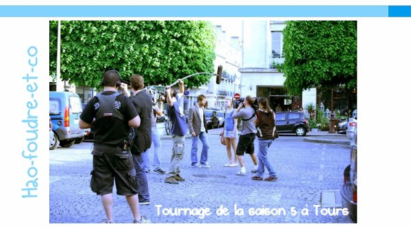 TOURNAGE FOUDRE SAISON 5 à TOURS; Jéromine Chasseriaud & David Tournay !