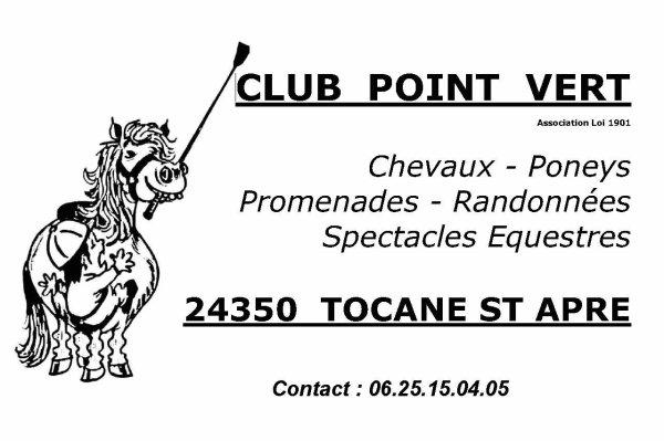 """Bonne visite sur le blog du Club """"Point Vert """" de Tocane St Apre (24) !"""