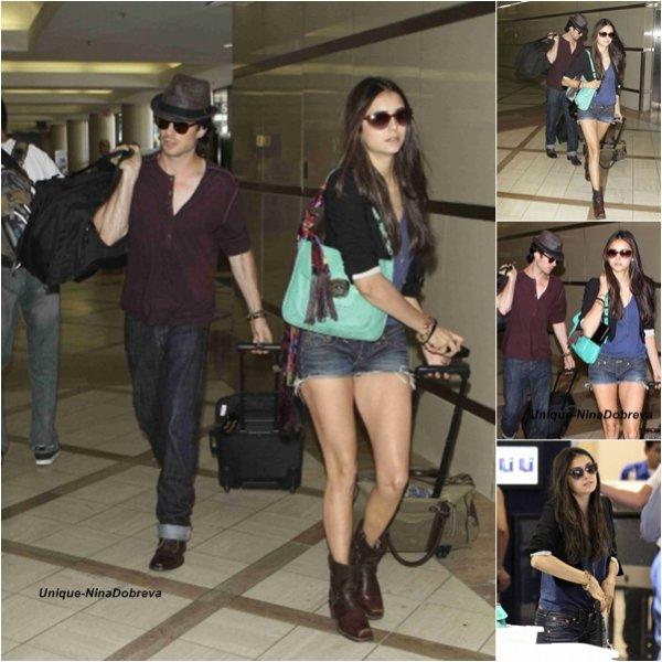 Le 08/08/2011  Nina et Ian ont été vu à l'aéroport de Los Angeles,put etre pour prendre un vol vers Atlanta où se déroule le tournage de la saison 3 de The Vampire Diaries.