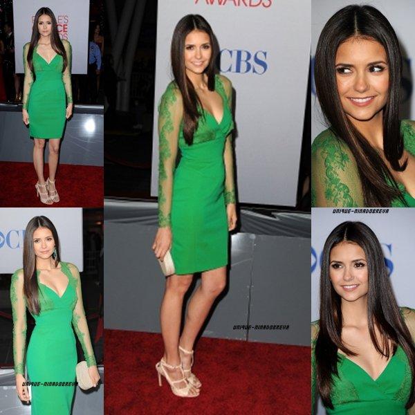 Le 12/01/2012 Nina était présente au People Choice Awards de 2012 ce Mercredi  à Los Angeles dans une robe de couleur verte& comme toujours she looks Stunning