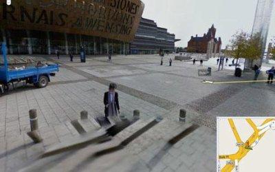 Un fantome sur Google Street Vieuw