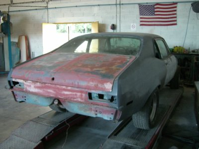 Restauration Chevrolet Nova 1970