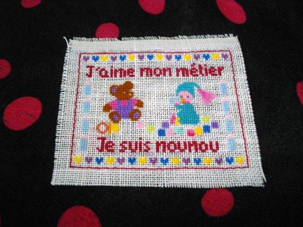 Broderie ours