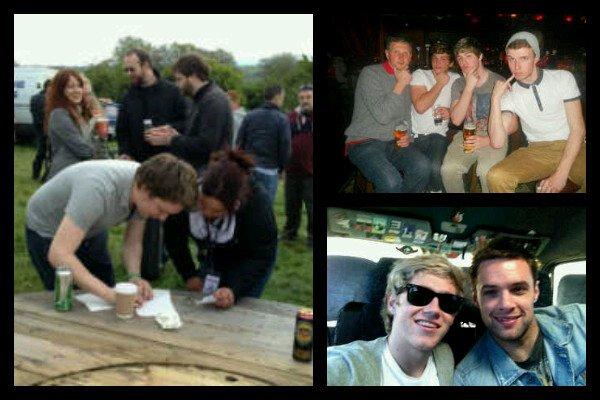 Niall avec des pote au #FestivalOfFire (festivale de musique) hier =D