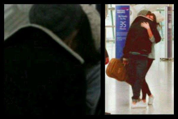 louis et Eleanor aujourd'hui a l'aeroport <333