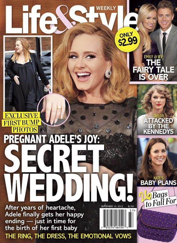 Adele est Enceinte et Fiancée!